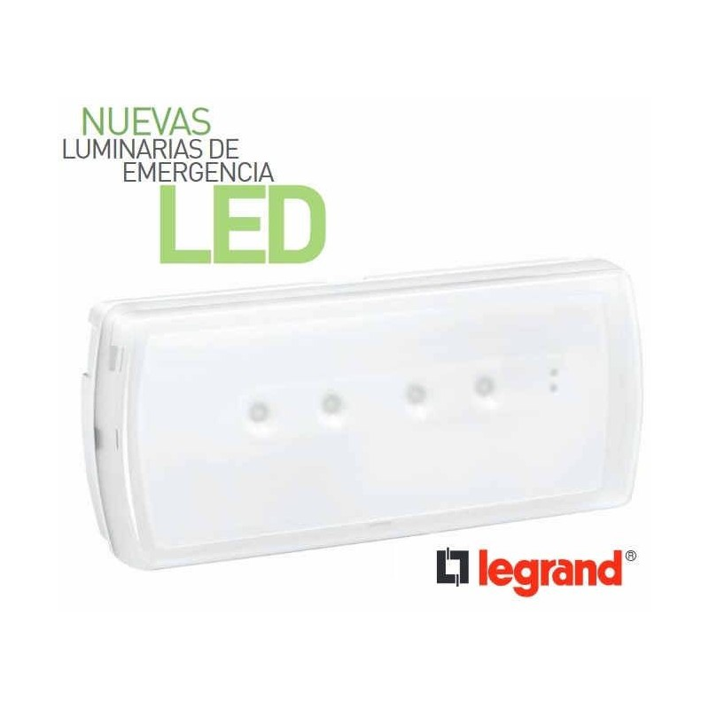 Luz de emergencia Led 200 Lumenes Ura21Led Legrand 661608