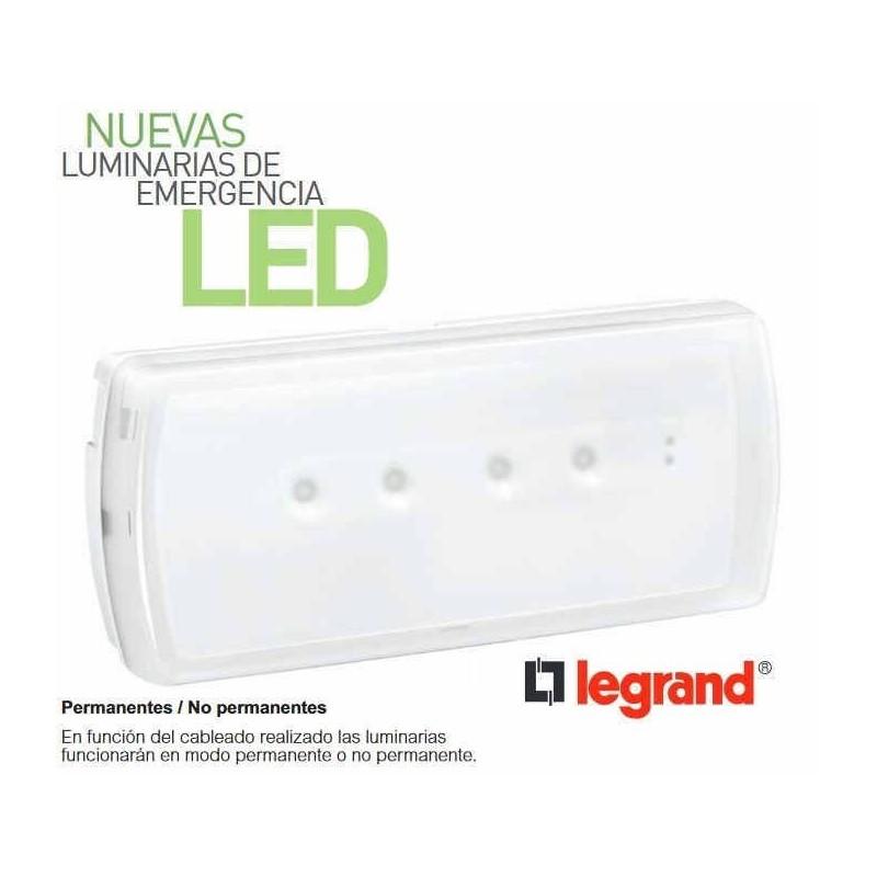 Emergencia Led URA21LED 100 Lumenes Permanente y No Permanente Legrand 661603