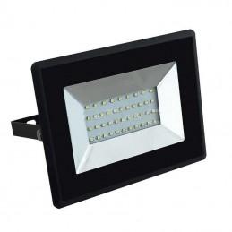 Proyector LED Slim 50W Negro Luz Blanco Frio 6500K 4250Lm VTAL5960