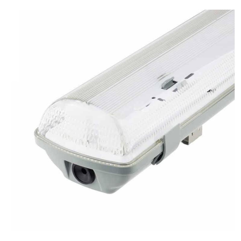 Pantalla estanca vacia IP65 para dos tubos LED 1200mm Ecolux EC3644