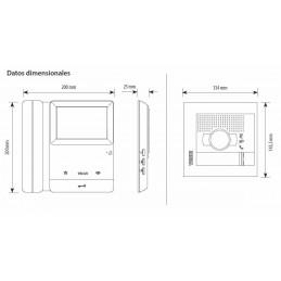 Kit Videoportero Color 2 Lineas 2 Hilos Serie 8 Sfera New Tegui 378112
