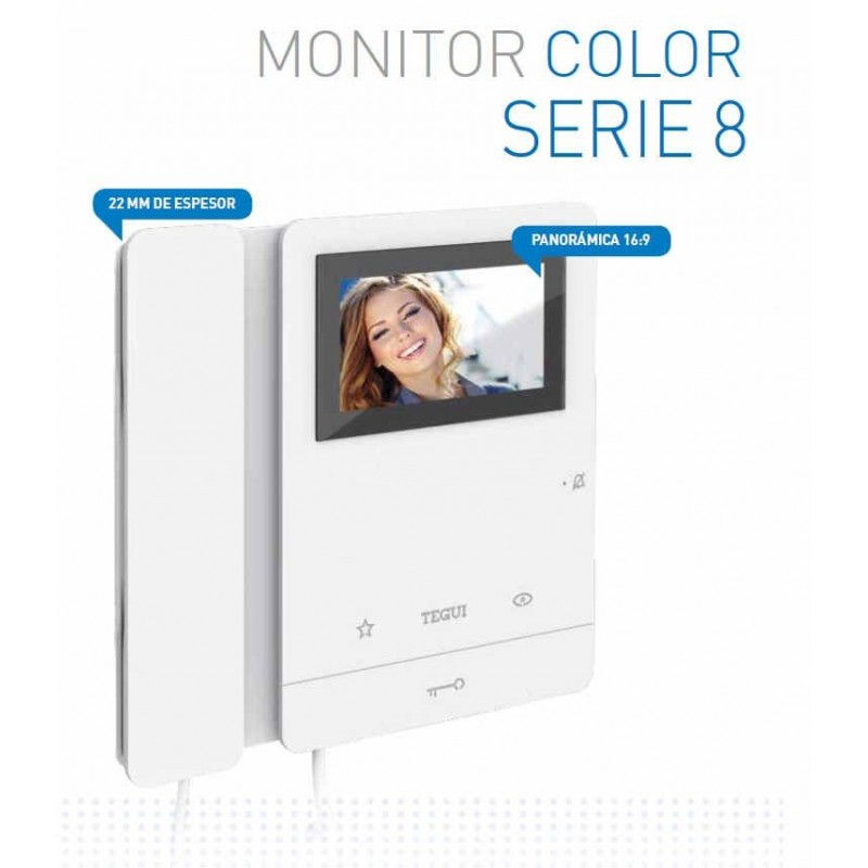 Monitor Color 2 Hilos Serie 8 Tegui 374494