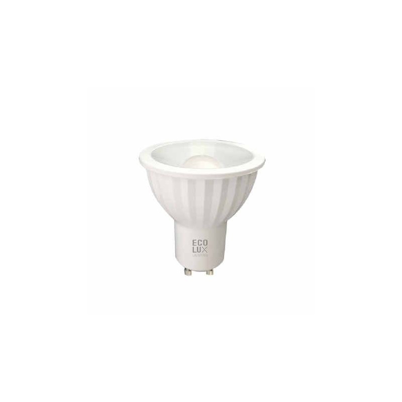 Bombilla dicroica led 8W GU10 230V 120 Grados blanco calido 3000k 600lm Ecolux EC4020