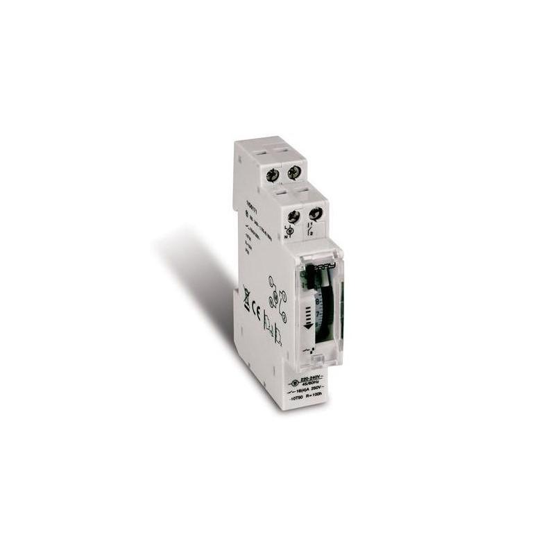 Interruptor Horario Diario 1 Modulo Reserva 100 Horas Omnium Electric OPHQ1-P