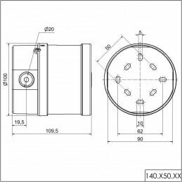 Sirena Industrial Electronica Multitono 32 Tonos 115-230VAC IP65