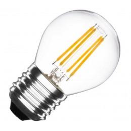 Bombilla led esferica G45 filamento E27 4W luz natural.