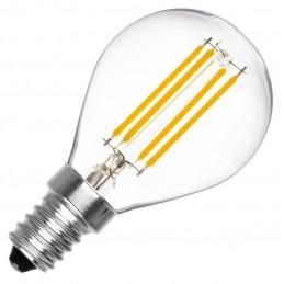 Bombilla led esferica G45 filamento E14 4W luz natural