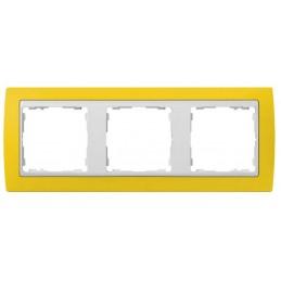 Marco 3 elementos amarillo...