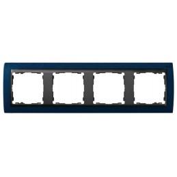 Marco 4 elementos azul...