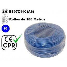 Cable flexible 1x10mm2 azul...