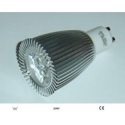 LAMPARA DICROICA LED 9W 230V PORTALAMPARAS GU10