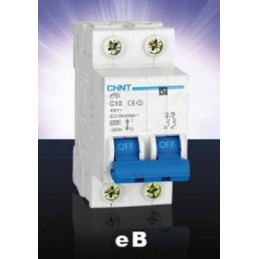Magnetotermico 2P 10A Chint eB-2-10C6