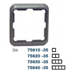 Marco 4 elementos gris Serie 75 Simon 75640-35