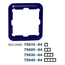 Marco 3 elementos azul cobalto Serie 75 Simon 75630-64