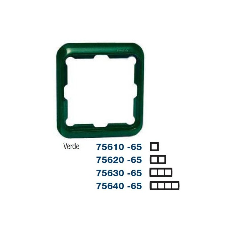 MARCO 3 ELEMENTOS VERDE SIMON 75630-65