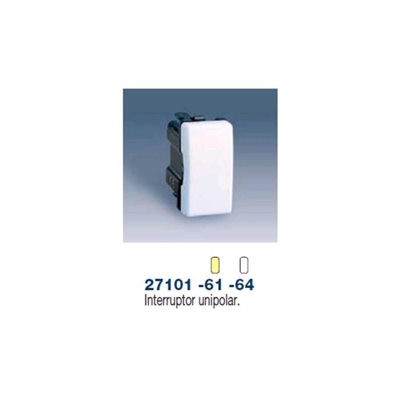 Interruptor estrecho marfil Simon 27101-61