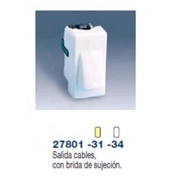 SALIDA DE CABLES ESTRECHA MARFIL SIMON 27801-31