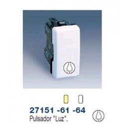 PULSADOR ESTRECHO MARFIL  SIMBOLO LUZ SIMON 27151-61