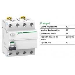 Interruptor Diferencial 4P 40Amp 30mA A9R81440 Schneider Electric