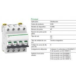 Magnetotermico 4P 50Amp Curva C 6KA A9F79450 Schneider Electric