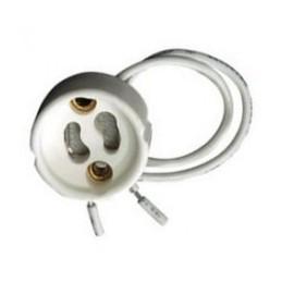 50 Portalamparas GU10 230V para bombillas halogenas dicroicas