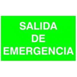 Etiqueta Adhesiva SALIDA DE EMERGENCIA Normalux N-SE