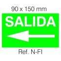 Etiqueta Adhesiva SALIDA FLECHA IZQUIERDA Normalux N-FI
