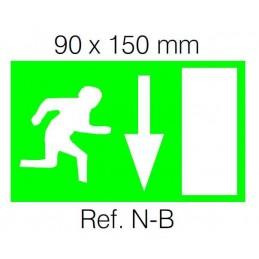 Etiqueta Adhesiva SALIDA ABAJO Normalux N-B