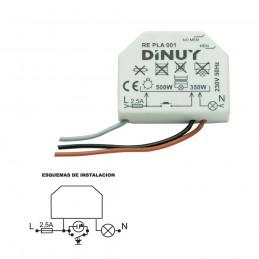 Regulador de luz 500w Dinuy RE PLA 001