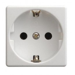 Base schuko 2P+TT 16A ancha blanca con dispositivo de seguridad Simon 27432-65