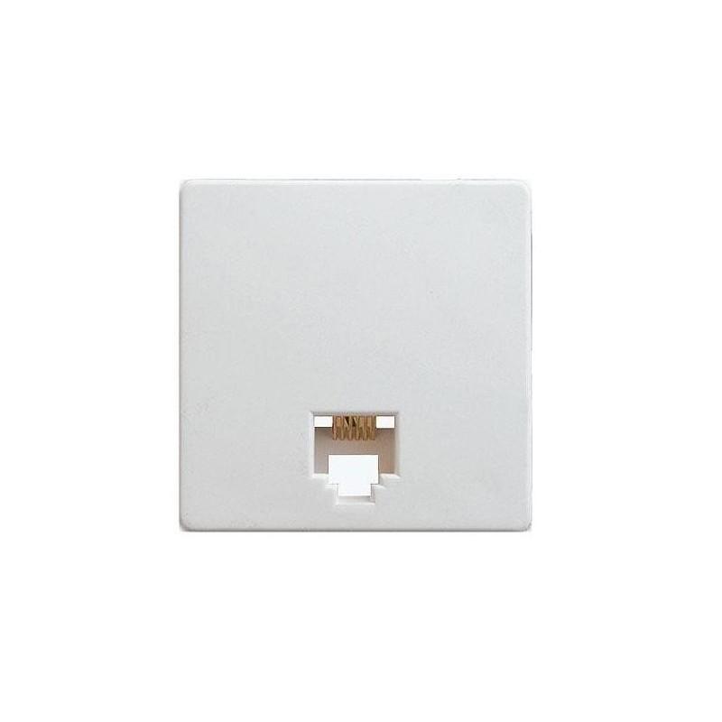 Toma de telefono RJ12 6 contactos ancha blanca Simon 27481-35