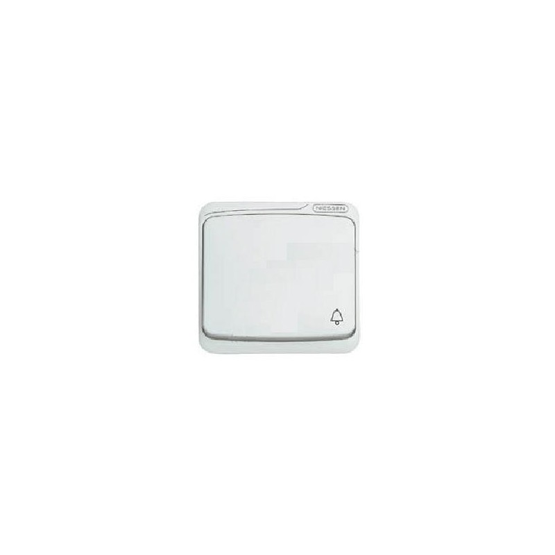 Tecla pulsador simbolo campana blanca Niessen 8704BA