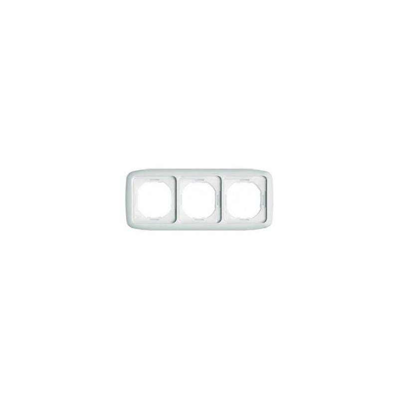 Marco 3 elementos estanco IP44 blanco Niessen 8773BA
