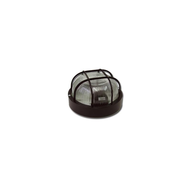 Plafon estanco 100W E-27 redondo negro IP44