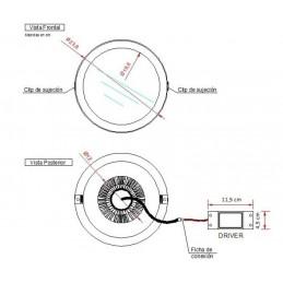 DOWNLIGHT LED 25W EMPOTRAR BLANCO LUZ CALIDA CIFRALUX 102320C