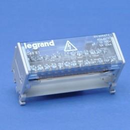 Repartidor riel 2P 40A 6 Modulos 13 Conexiones Legrand 04881