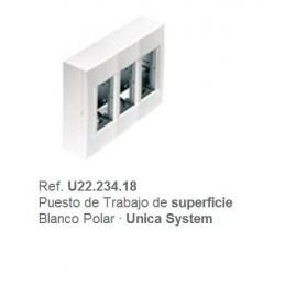 Puesto de trabajo de superficie 3 filas blanco Eunea U22.234.18