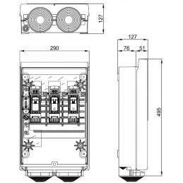 CGP Caja acometida aerea esquema 7 160 Amp bases Buc CGP-7-160/BUC Cahors 445050