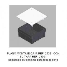 Caja de registro de empotrar 150x100x50mm con tapa Seavi