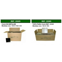 Caja de registro de empotrar 150x150x50mm con tapa Seavi