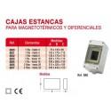 Caja automaticos superficie estanca 3 elementos precintable Vilaplana 880