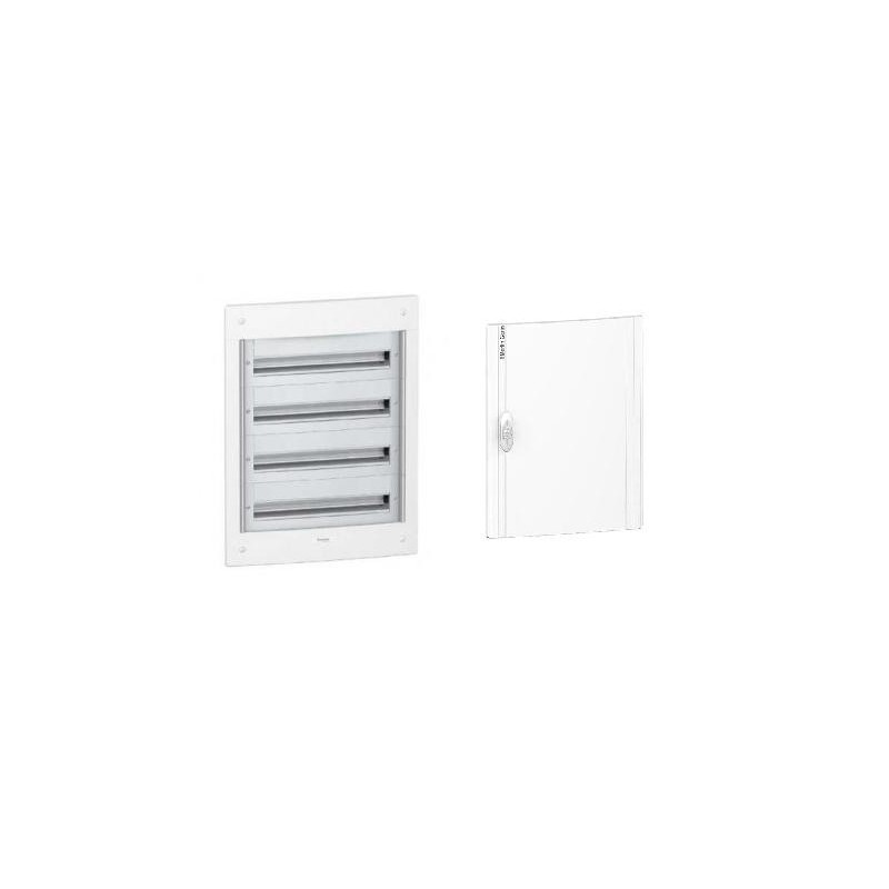 Caja automaticos empotrar 4 filas 52 elementos puerta opaca Schneider Electric