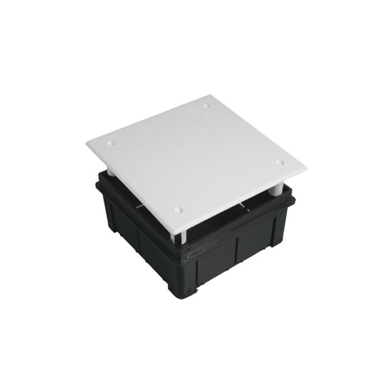 60 Cajas de registro de empotrar 100x100x50mm con tapa Seavi
