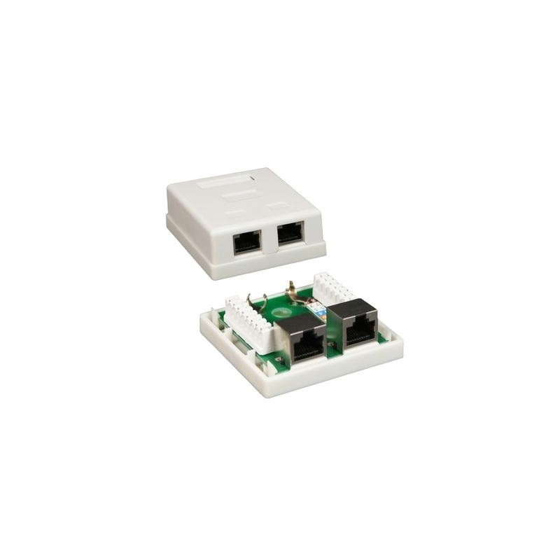 BASE RJ45 SUPERFICIE UTP CAT5E 2 TOMAS TA118 NETLOCK