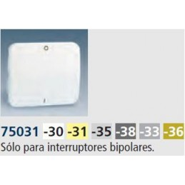 Tecla interruptor bipolar ancha gris Serie 75 Simon 75031-35