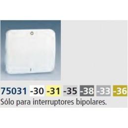 Tecla interruptor bipolar ancha aluminio mate Serie 75 Simon 75031-33