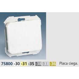 Tapa ciega ancha aluminio mate Serie 75 Simon 75800-33