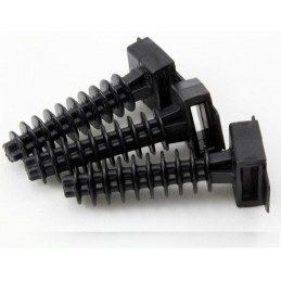 Bolsa de 100 Tacos negros 8mm PVC para bridas