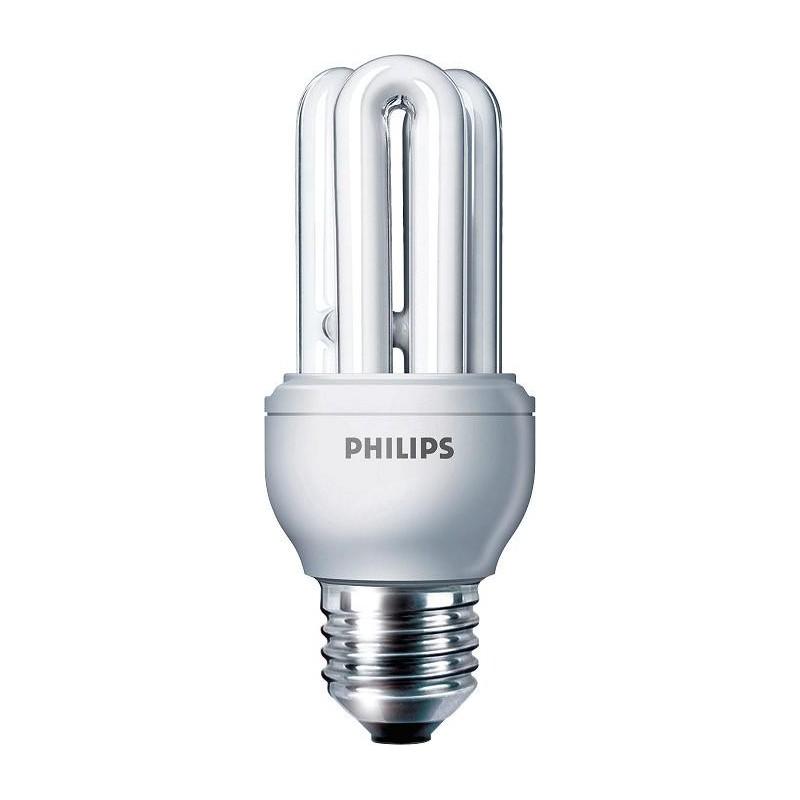 Bombilla fluorescente bajo consumo 11W 230V E27 6500K Luz Blanco Frio Philips 80106710