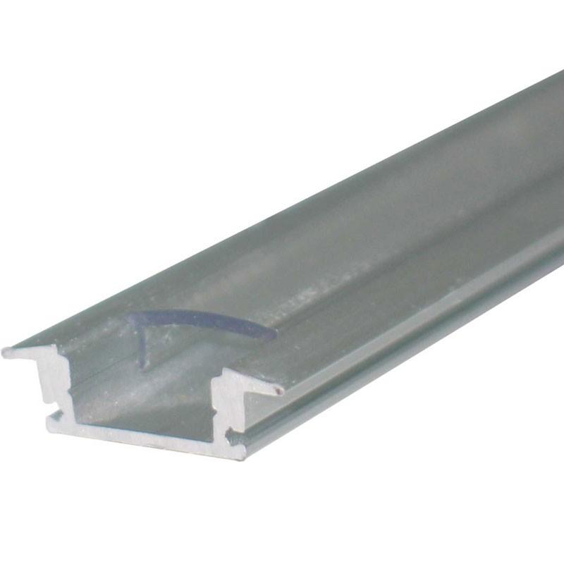 Perfil aluminio de empotrar para tiras de leds 1 metro Agfri 15251